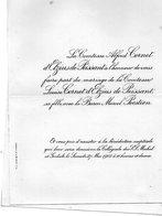 Mariage 1906 Marcel Pecsteen & Louise Cornet D'Elzius De Peissant Bruxelles Hamont-Achel - Mariage