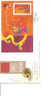 Hong-Kong- Année Du Dragon ( FDc De 2000 Avec BF  à Voir) - 1997-... Regione Amministrativa Speciale Della Cina