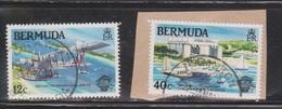 BERMUDA Scott # 441, 443 Used - Seaplanes - 443 On Piece - Bermuda