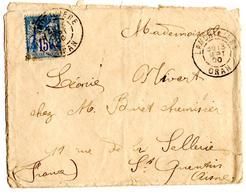 Lettre De La Moricière Oran (13.09.1900) Pour Saint Quentin - Marcophilie (Lettres)