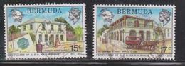 BERMUDA Scott # 351-2 Used - Post Office Buildings - Bermuda