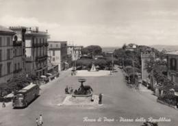 AK - ROCCA DI PAPA - Piazza Della Repubblica Mit Autobus 1950 - Italien