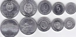 Korea North - Set 5 Coins 1 5 10 50 Chon 1 Won 1959 - 1987 AUNC Lemberg-Zp - Corea Del Nord