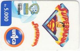 VENEZUELA A-729 Prepaid Un1ca - Cinema, Cartoon, Superman - Used - Venezuela