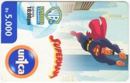 VENEZUELA A-730 Prepaid Un1ca - Cinema, Cartoon, Superman - Used - Venezuela