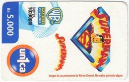 VENEZUELA A-731 Prepaid Un1ca - Cinema, Cartoon, Superman - Used - Venezuela
