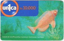 VENEZUELA A-741 Prepaid Un1ca - Animal, Sea Life, Fish - Used - Venezuela