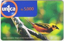 VENEZUELA A-743 Prepaid Un1ca - Animal, Bird - Used - Venezuela