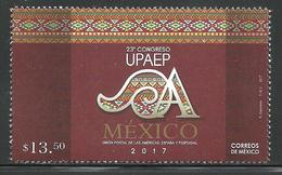 2017  23° Congreso UPAEP México  STAMP MNH 23rd America Postal Union Congress UPAEP Mexico 2017  EMBLEM - Messico