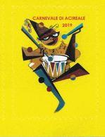 Acireale, Catania, Sicilia, Carnevale 2019, Il Più Bel Carnevale Di Sicilia, Erinnofili - Vignetten (Erinnophilie)