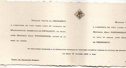 Mariae 1922 Jean Poindrelle & Albertine De Monlezun PARIS - Mariage