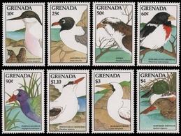 Grenada 1988 - Mi-Nr. 1744-1751 ** - MNH - Vögel / Birds - Grenada (1974-...)