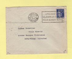 Flier - Paris 118 - R. D'Amsterdam - Utilisez Le Telegrme A 3f50 / 4f Pour Quinze Motss - 1939 - Postmark Collection (Covers)