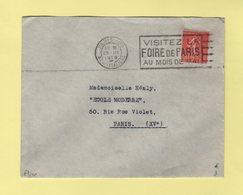 Flier - Paris 108 - Bd Des Italiens - Visitez La Foire De Paris Au Mois De Mai - 1929 - Oblitérations Mécaniques (flammes)