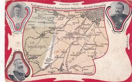 1917'S RARE CPA- AUSFLUG IM DEUSTCH NIEDERLANDISCH BELGISCHEN U NEUTRALEN GRENZGEBIET  - BLEUP - Cartes Géographiques