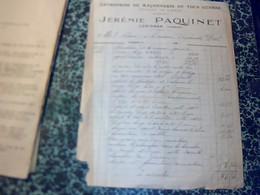 Facture Jérémie Jérémie Paquinet Entreprise De Maçonnerie à Lusignan Annèe 1918 - Petits Métiers