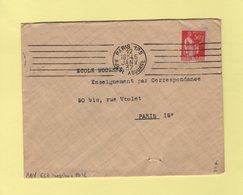 RBV - Paris 125 - Rue De La Douane - 6 Lignes Droites Inegales - 1937 - Marcophilie (Lettres)