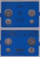 Sweden - Mint Set 4 Coins 10 50 Ore 1 5 Kronor 1989 UNC Lemberg-Zp - Sweden