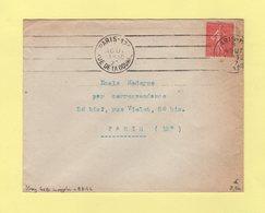 Krag - Paris 125 - Rue De La Douane - 4 Lignes Droites Inegales - 1927 - Marcophilie (Lettres)