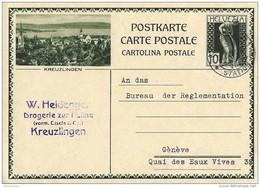 """36 - 40 - Entier Postal Avec Illlustration """"Kreuzlingen"""" 1936 - Entiers Postaux"""