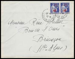 10167 Lettre Cover Bouches Du Rhone N°482 Type Paix Marseille DéPA Poste Aeriennet Pour Briancon Hautes Alpes 1941 - Marcophilie (Lettres)