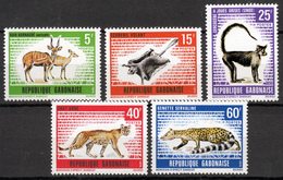 GABON  1970  WILD ANIMALS  SET  MNH - Gabon