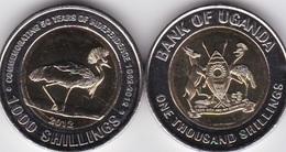 Uganda - 1000 Shillings 2012 UNC 50 Years Independence Bimetall Lemberg-Zp - Uganda