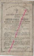 En 1890 à  Saint Sylvestre Cappel Et Merris- Amélie BERDOU Ep Louis SOOTS - Todesanzeige