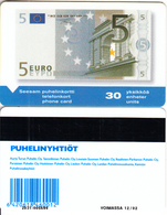 FINLAND - Banknote 5 Euro, Turun Puhelin Telecard, Tirage 10000, Exp. Date 12/02, Used - Finland