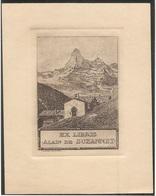 Ex-libris Comte Alain De Comte Alain De SUZANNET, (1882-1950). Lausanne. - Ex Libris