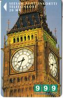 FINLAND - Big Ben/London, Turun Puhelin  Telecard, Tirage 7600, Exp. Date 12/99, Used - Landschappen