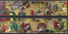 Belgium**BREUGHEL Painting-MEDIEVAL CHILDREN GAMES-6vals -1967-ART-KUNST-peintures- - Belgium