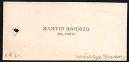 2697 - Martin Rohmer -  Visitenkarte - Visitenkarten