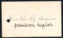 A2932 - Fritz Peterhauser -  Visitenkarte - Visitenkarten
