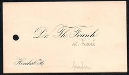 B0403 - Dr. Th. Frank - Höchst -  Visitenkarte - Visitenkarten