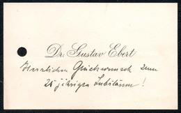 C5123 - Dr. Gustav Ebert -  Visitenkarte - Visitenkarten