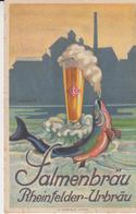 Salmenbrau Rheinfelder Urbrau Illustratore A. Schneider 1927 Pubblicità Birra Bier A.Trub E C. Aarau - Advertising