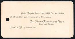 C3766 - Dr. Bruno Francke - Höchst -  Visitenkarte - Visitenkarten