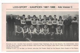 Looi-Sport Kampioen 1987-1988 - 4de Klasse C (19x12,5 Cm) - Tessenderlo