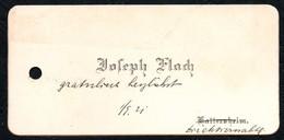 B4915 - Joseph Flach - Kattersheim -  Visitenkarte - Visitenkarten