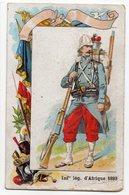 """Chromo - LILLE-- BELLE JARDINIERE- """" Chicorée Extra """"-- Soldat -Infanterie Légion D'Afrique 1893   ......à Saisir - Other"""