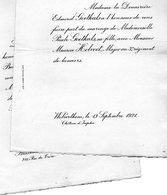 Mariae 1921 Maurice Holvoet & Paule Goethals Wolvertem Bruxelles Meise - Mariage