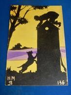 MILITARIA  HUMORISTIQUE - ARMEE BELGE -    Soldat Apeuré Sur Sa Guérite  ( Illustrateur HM B ) - War 1914-18
