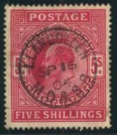 1902, 5 Shilling KGV Cenric Cancellation Superbe (Michel 116, SG 262 - 120,-) - Grande-Bretagne