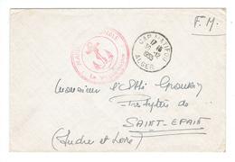 POSTE NAVALE - CACHET SERVICE A LA MER + CàD CAP MATIFOU - ALGER - 30/12/1955 - Algérie (1924-1962)