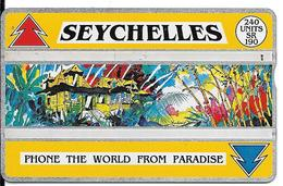 CARTE-HOLOGRAPHIQUE-SEYCHELLES-240U-CASE ANCIENNE-V° N°Env 407C30531-TBE-RARE - Seychelles