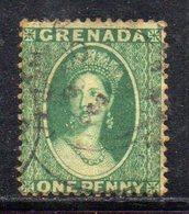 APR1608 - GRENADA  , 1 Penny Verde  Filigrana Piccola Stella (1 Punta In Basso) - Grenada (...-1974)
