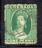 APR1609 - GRENADA , 1 Penny Verde  Filigrana Piccola Stella (2 Punte In Basso) - Grenada (...-1974)