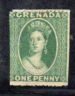 APR1610 - GRENADA , 1 Penny Verde Nuovo Senza Gomma : Non Riesco A Vedere La Filigrana (?) - Grenada (...-1974)