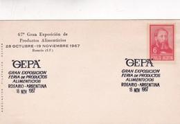 1967 SPC COVER: GEPA 67° GRAN EXPO FERIA PRODUCTOS ALIMENTICIOS. ROSARIO - BLEUP - Alimentation